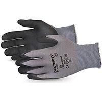 Superior Glove Dexterity Black Widow Grip High Abrasion 10 Black Ref SUS13PNT10