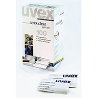 Uvex Lens Cleaning Towelettes Dispenser Box with Wipes Ref 9963-000 [100 Sachets]