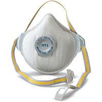 Moldex FFP3V Mask NR D Valve Adjustable White Ref M3505 Pack of 5