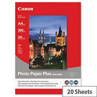 Canon SG-201 A4 260g/m2 Satin Finish Semi-Gloss Plus Photo Paper White 1 Pack of 20 Sheets