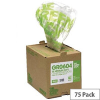 The Green Sack Refuse Sacks Medium Clear Pack of 75
