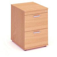 Impulse 2 Drawer Filing Cabinet WxDxH 500x600x800mm Beech