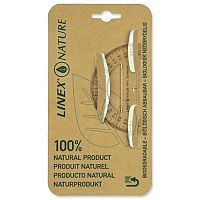 Linex Nature Protractor 180 Degree Biodegradable Clear