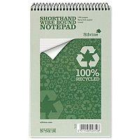 Silvine Shorthand Notepad Wirebound 125 x 200 mm RE160 Pack 12