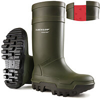 Dunlop Purofort Thermo Plus Safety Wellington Boot Size 12 Green Ref C66293312