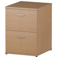 Impulse 2 Drawer Filing Cabinet WxDxH 500x600x800mm Oak