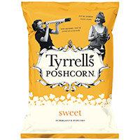 Tyrrells Sweet Popcorn 90g Ref 701948 Pack of 12