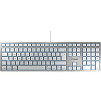 Cherry KC6000 Wired Mac Slim Keyboard Silver Ref JK-1610GB-1