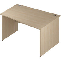 Wave Panel End Right Hand Office Desk Maple W1400mm