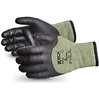 Superior Glove Emerald CX Kevlar/Steel Winter PVC Palm 2XL Black Ref SUSCXTAPVCXXL