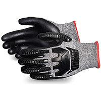 Superior Glove Tenactiv Anti-Impct Cut-Resist Nitr Palm 11 Black Ref SUSTAFGFNVB11