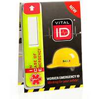 Vitalid Emergency ID Data Window (Ice) Ref WSID02G