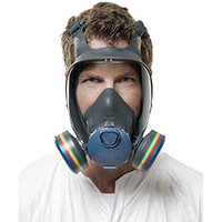 Moldex 9000 Full Face Mask Lightweight Peripheral Vision Large Grey Ref M9003