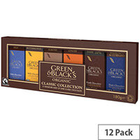 Green and Blacks Organic Milk/Dark Chocolate Miniatures Collection 15g Bars 1 x Pack of 12