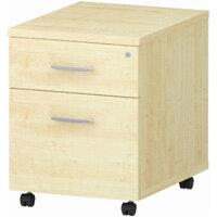 2 Drawer Mobile Desk Pedestal Maple