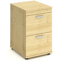 Impulse 2 Drawer Filing Cabinet WxDxH 500x600x800mm Maple