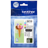 Brother LC3213VAL Yield: 400 Pages Black/Cyan/Magenta/Yellow Ink Cartridge Pack of 4
