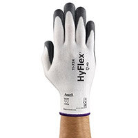 Ansell HyFlex 13 Gauge, Size 10 Cut-Resistant Palm Coated Medium-Duty Work Gloves Grey/White