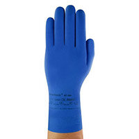 Ansell VersaTouch Size 7 Latex Rubber Light-Duty Work Gloves Blue