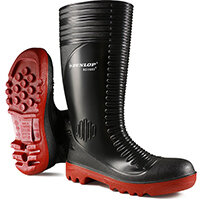 Dunlop Acifort Safety Wellington Boots Ribbed Size 12 Black Ref A25293112