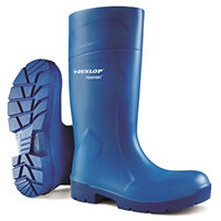 Dunlop Purofort Multigrip Safety Wellington Boots Size 4 Blue Ref CA6163104