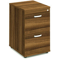Impulse 2 Drawer Filing Cabinet WxDxH 500x600x800mm Walnut
