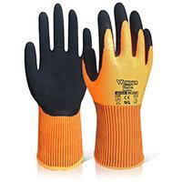 Wonder Grip WG-310H Comfort Hi-Vis Glove 8 Medium Orange Ref WG310HORM Pack of 12