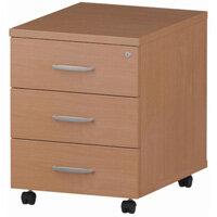 3 Drawer Mobile Desk Pedestal Beech