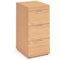 Impulse 3 Drawer Filing Cabinet WxDxH 500x600x1125mm Beech