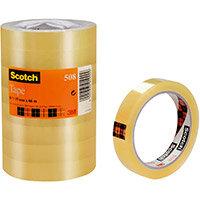 Scotch 508 Clear Tape 19mmx66m Clear Ref 7000080794 Pack of 8