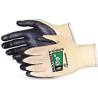 Superior Glove Dexterity Ultrafine 18-G Cut-Resist Kevlar 10 Black Ref SUS18KGFN10