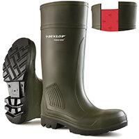 Dunlop Purofort Professional Safety Wellington Boot Size 9 Green Ref C46293309