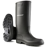 Dunlop Pricemastor Wellington Boot Size 10.5 Black Ref BBB10.5