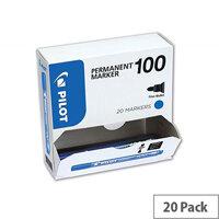 Pilot SCA-100 Bullet Tip 4.5mm Tip Width 1.0mm Line Width Permanent Marker Blue Pack of 20