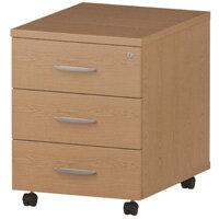 3 Drawer Mobile Desk Pedestal Oak