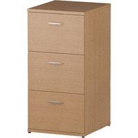 Impulse 3 Drawer Filing Cabinet WxDxH 500x600x1125mm Oak