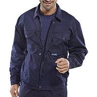 Super Click Workwear Drivers Jacket 34 inch Navy Blue Ref PCJHWN34