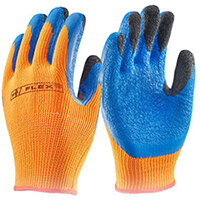 B-Flex Latex Thermo-Star Fully Dipped Gloves Size 10 Orange - Ideal for refrigeration, cold store, and winter conditions Ref BF3OR10