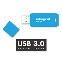 Integral Neon 128GB USB 3.0 Flash Drive Blue