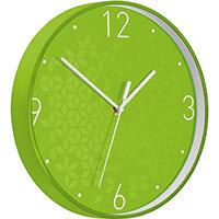Leitz WOW Wall Clock 291x291x43mm Green Ref 90150054