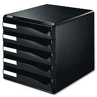 Post Set Filing Unit A4 Black 5 Drawers