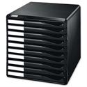 Leitz Desktop Filing Unit Black A4 10 Drawers