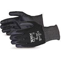Superior Glove Emerald CX Nylon S/Steel Nitrile Palm 10 Black Ref SUS13KBFNT10