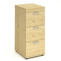 Impulse 3 Drawer Filing Cabinet WxDxH 500x600x1125mm Maple