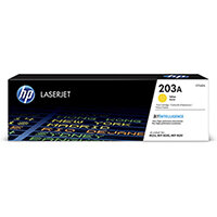 HP 203A Yield: 1,300 Pages Original LaserJet Yellow Toner Cartridge Ref CF542A