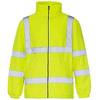 Supertouch High Visibility Micro Fleece Jacket Polyester with Zip Fastening Small Yellow Ref 38041