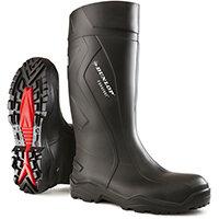 Dunlop Purofort Plus Safety Wellington Boot Size 12 Black Ref C76204112