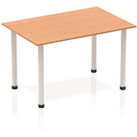 Rectangular Table Oak with Silver Frame 1200x800mm