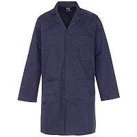 Supertouch Lab Coat Polycotton with 3 Pockets Small Navy Ref 57011