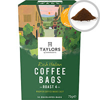 Taylors Rich Italian Coffee Bags Ref 0403390 Pack of 10